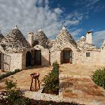 View of the three trulli