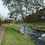 川沿いの散歩コースです。