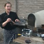 The action starts at Cristina's outdoor kitchen
