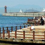 高松港玉藻防波堤灯台の「美しい防波堤