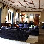 One of the lounge areas