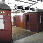Old train carriages converted into dorms