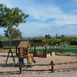 playground and lots of nice hard tennis courts