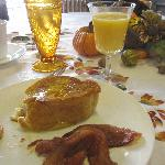 Spiced Bacon with stuffed French toast