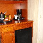 Coffee Station, Microwave & Fridge