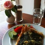 spinach pie on filo pastry