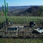 Their very own boot hill cemetary