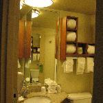 Clean Bathroom Three Way Mirror