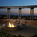 Firepit at sunset
