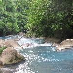 The Rio Celeste, right behind the cabinas