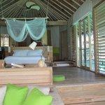 Inside overwater villa