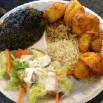 chicken kabob with spinach
