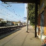 At Montevarchi station after shopping