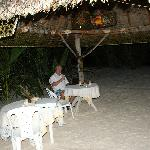 Incredible settings for meals at Anse Kerlan beach chalets