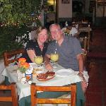 Relaxing with Mango Margaritas!