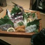 Seki Aji,Suzuki,Mirugai,Uni,Ika sashimi!!