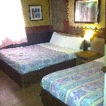 beds in deluxe room sea view