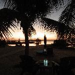 The beach at sunset