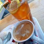 Iced Lemon Tea and Coffee