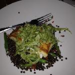halibut with verde fennel and lentils