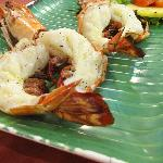Charcoal grilled king prawns