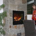 Le feu dans la cheminée