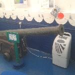 Cannon with dehumidifier