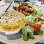 Baked Camembert, Rosemary Potatoes and Salad