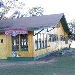 This is the Lasso Lodge where all meals are served. Sit family style at picnic tables.