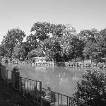Vermillion River behind hotel