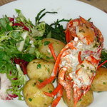 Locally caught lobster