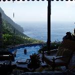 View from the hilltop suite - which included a swing over the pool!
