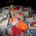Rolls and nigiri are fresh
