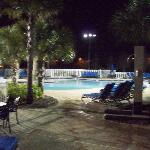 Pool at night...normally empty
