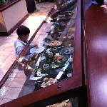 great salad bar!!