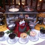 one of many dessert stations...make-your-own sundae!