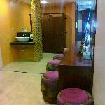 powder room off the lobby