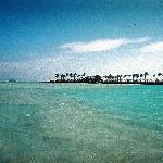 Piren sedd från lagunen.