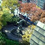 Roof-top view of the Peace Fountain