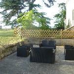 Rear terrace