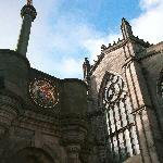 This is where all our walking tours meet on Edinburgh's Royal Mile in the historic Old Town.