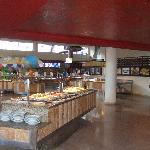 Inside the World Café – no problems with the food or service