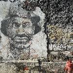 Cartagena, ciudad amurallada, dibujo en una pared