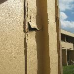 Stucco Walling off Building