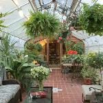 Greenhouse for Breakfast and Wine and cheese in the afteroon