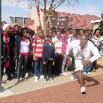 at Mandela house