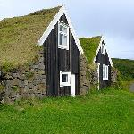 Turf roof houses