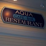 Aqua sign