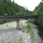 Hwy 36 Van Duzan Bridge, a bit east of Humboldt Gables several miles