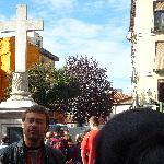 Sebastián manos a la obra en la Plaza de Puerta Cerrada
